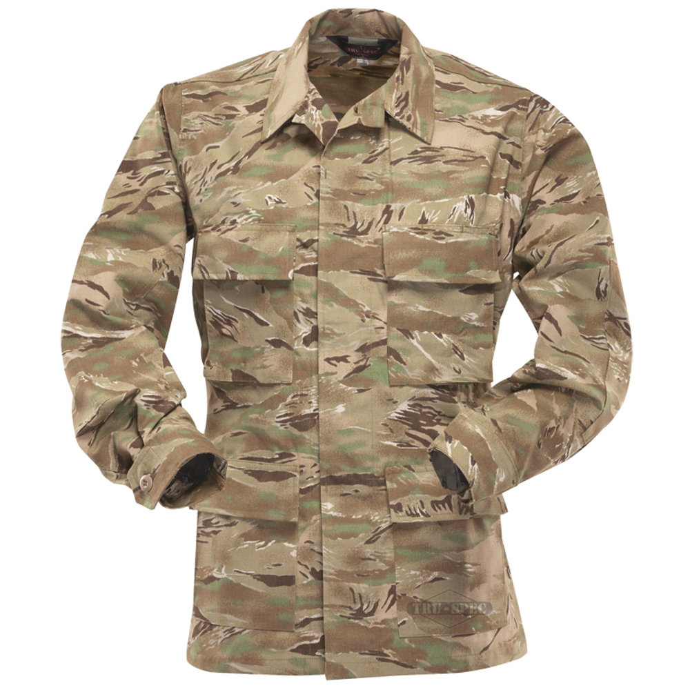 BDU Jacket, NYCO R/S BDU, All Terrain Tiger Stripe, Extra Small, Regula
