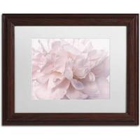 Trademark Fine Art 'Pink Peony Petals II' Canvas Art by Cora Niele, White Matte, Wood Frame