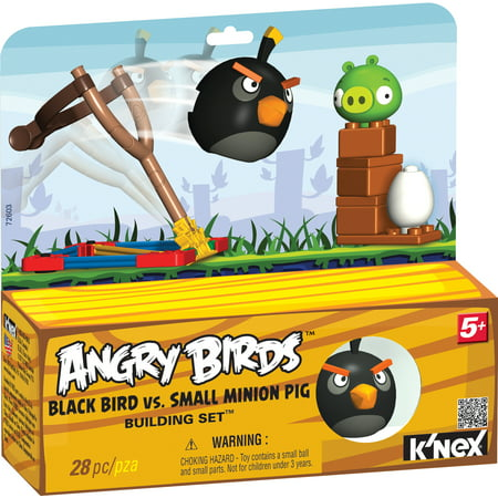 K'NEX BLACK BIRD VS. SMALL MINION PIG