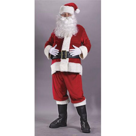 Santa Suit Rich Velvet Pls - Santa Suit Sale