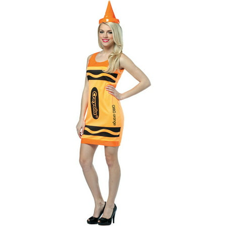 Crayola Adult Halloween Tank Dress Costume (Emerald Costume)