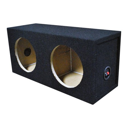 Qpower Qsolo82hole Dual 8  Sealed Woofer Box
