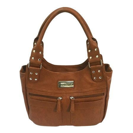 - VISM Concealed Carry Hobo Bag Brown