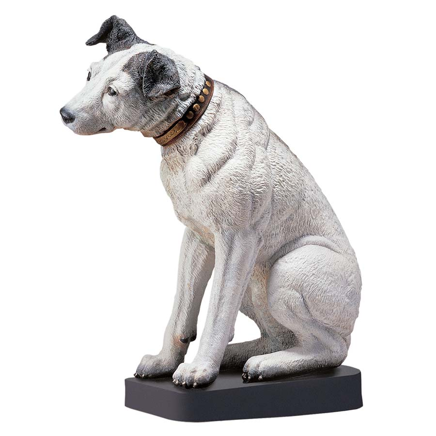 Design Toscano Nipper, the RCA Dog Statue
