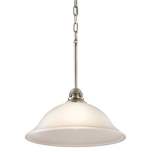 Kichler 42071 Durham Single-Bulb Indoor Pendant with Dome-Shaped Glass Shade