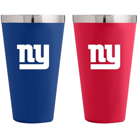 - New York Giants Team Color 2-Pack Stainless Steel Pint Glass - No Size