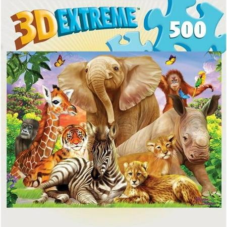 Hidden Image Glow - Pals 500 Piece Puzzle,  Wildlife by Masterpieces Puzzles](Wildlife Puzzles)