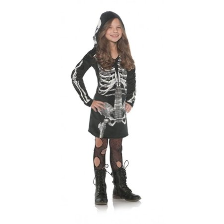 Skeleton Hoodie Dress Child Costume
