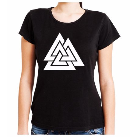 The Valknut Odin's Slain Warriors Women's Babydoll Shirt Alternative Clothing Old Norse