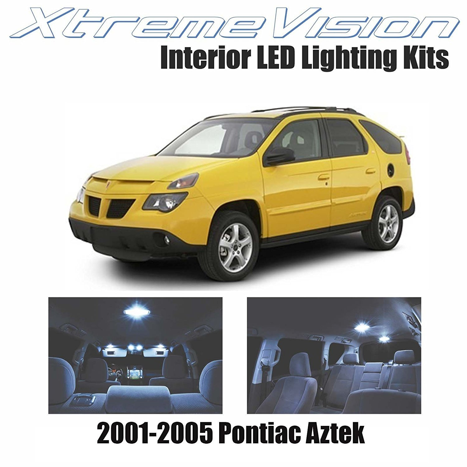 Xtremevision Led For Pontiac Aztek 2001 2005 7 Pieces Cool White Premium Interior Led Kit Package Installation Tool Walmart Com Walmart Com