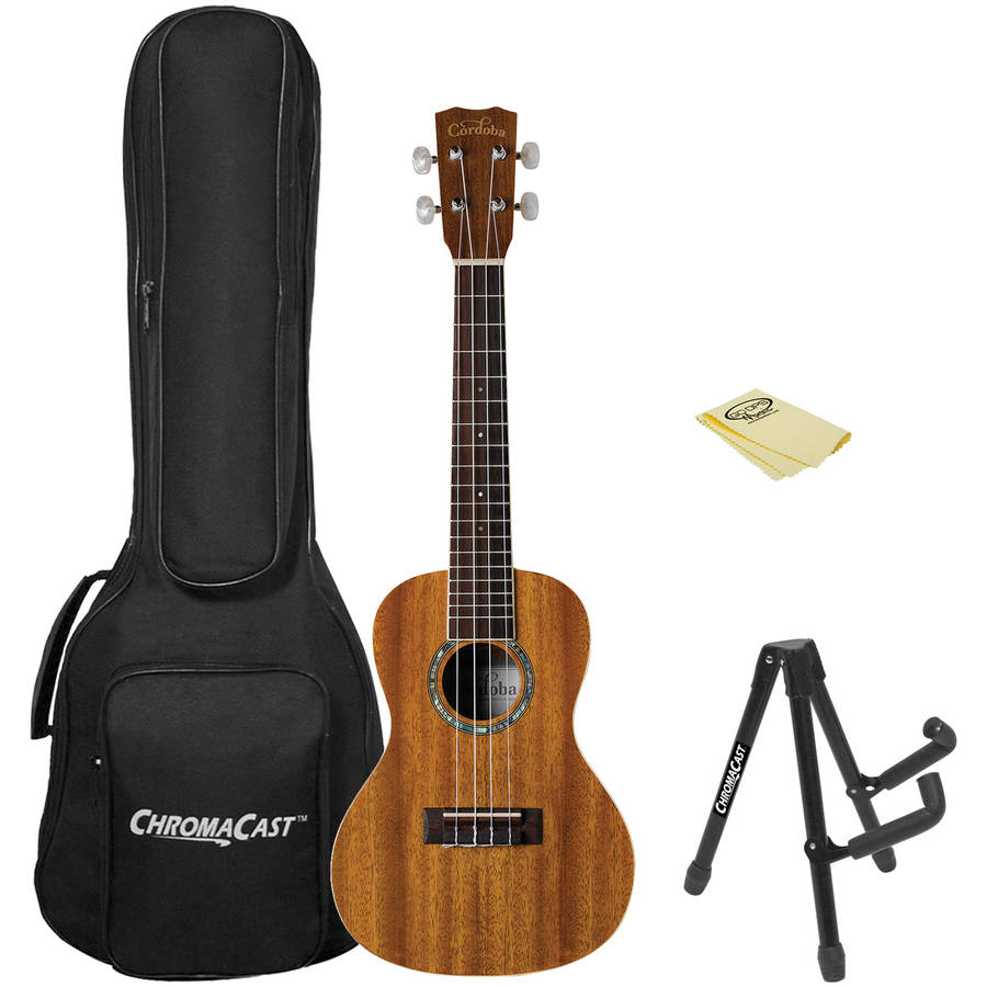 Cordoba 15CM Concert Ukulele with ChromaCast Gig Bag and Accessories