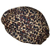 Animal Prints Women's Stretchy Turbans Head Chemo Hijab Pleated Hats - Leopard Prints  (TurAP)