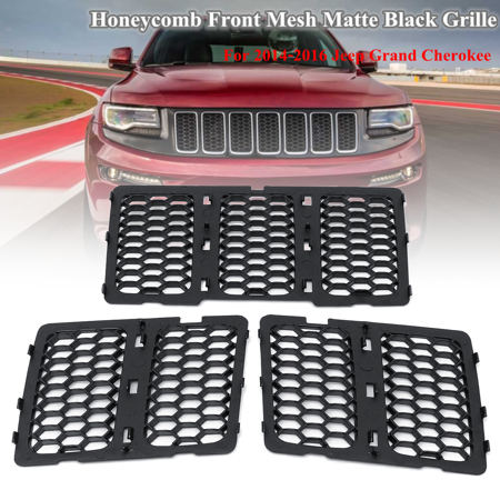 Front Grill Mesh Grille Insert Cover for Jeep Grand Cherokee 14-16