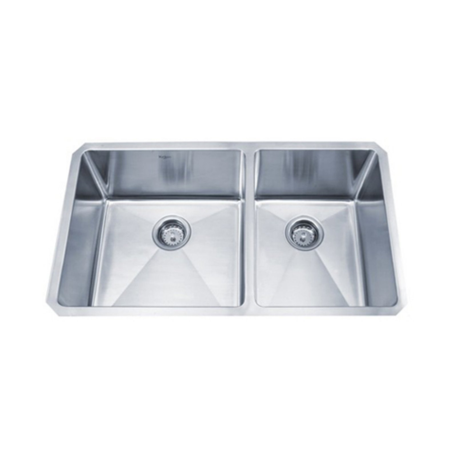 KRAUS Standart PRO™ 33 Inch 16 Gauge Undermount 60/40 Double Bowl Stainless