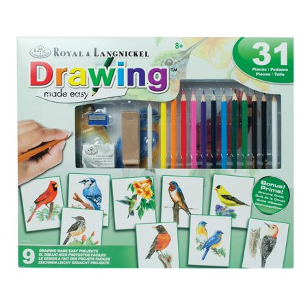 21 Piece Drawing Made Easy Kit - Birds