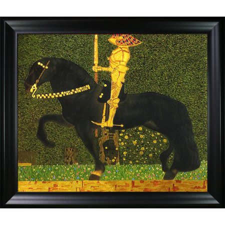 Tori Home Luxury Line The Golden Knight By Gustav Klimt Framed Painting On Canvas