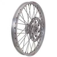 Warp 9 Complete Wheel Kit - Front 21 x 1.60 Silver Rim/Silver Hub/Silver Spokes and Nipples