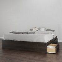 Nexera Tribeca Queen Size 3 Drawer Storage Bed, Ebony