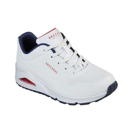 Skechers White Red Navy Street Shoes Factory Outlet