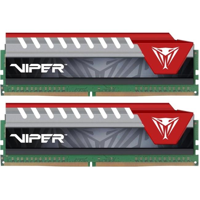 Patriot Memory Viper Elite Series DDR4 16GB (2 x 8GB) 2400MHz Kit (Red) - 16 GB (2 x 8 GB) - DDR4 SDRAM - 2400 MHz DDR4-2400/PC4-19200 - 1.20 V - Non-ECC - Unbuffered