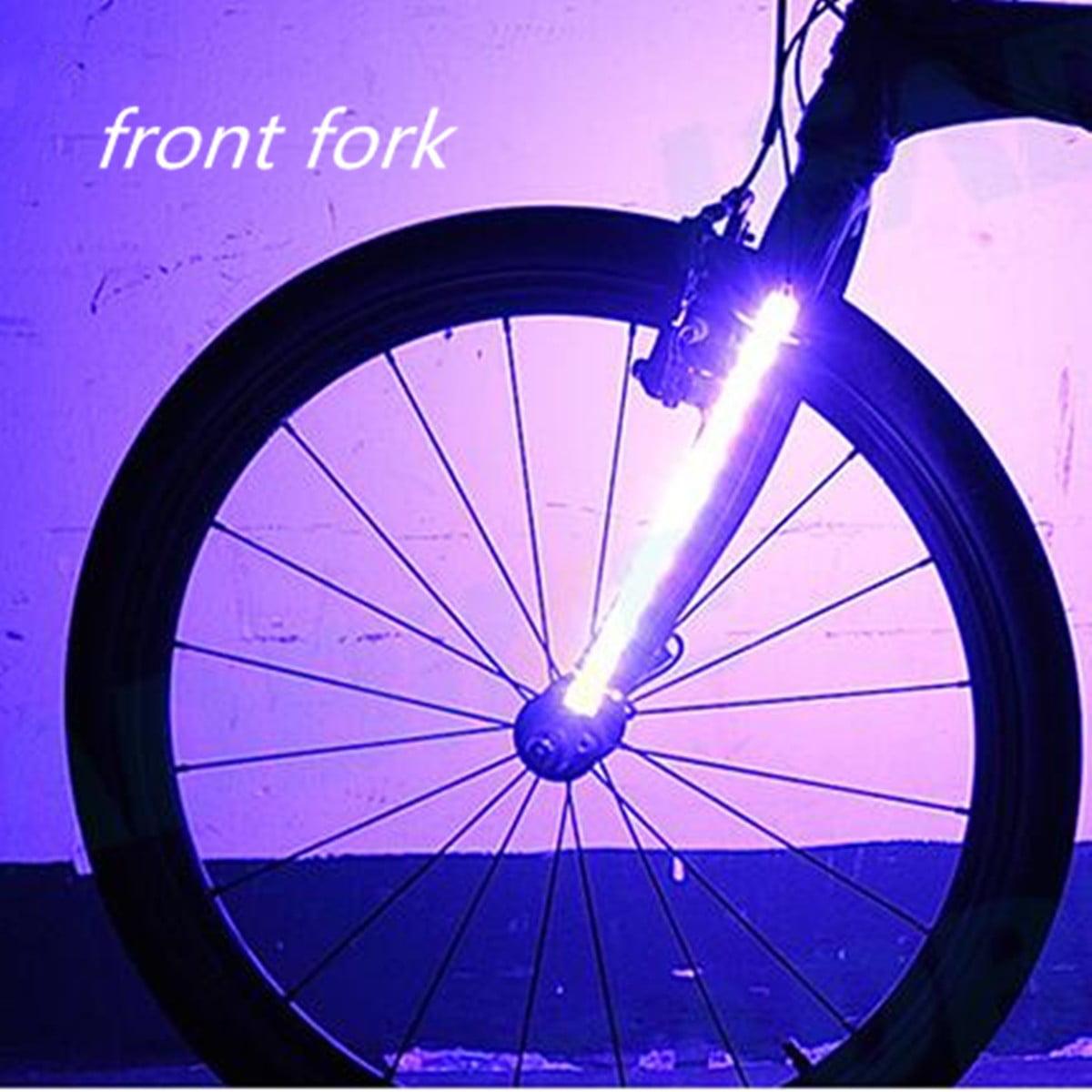 2 X Bike Bicycle Cycling Wheel Fork Strip Light Bar LED Flash Light Lamp 8 Modes