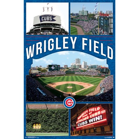 Chicago Cubs 22'' x 34'' Wrigley Field Poster (Chicago Bulls Poster)