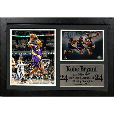 Nba Kobe Bryant Photo Stat Frame  12X18