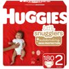 HUGGIES Little Snugglers Diapers, Size 2, 180 Count