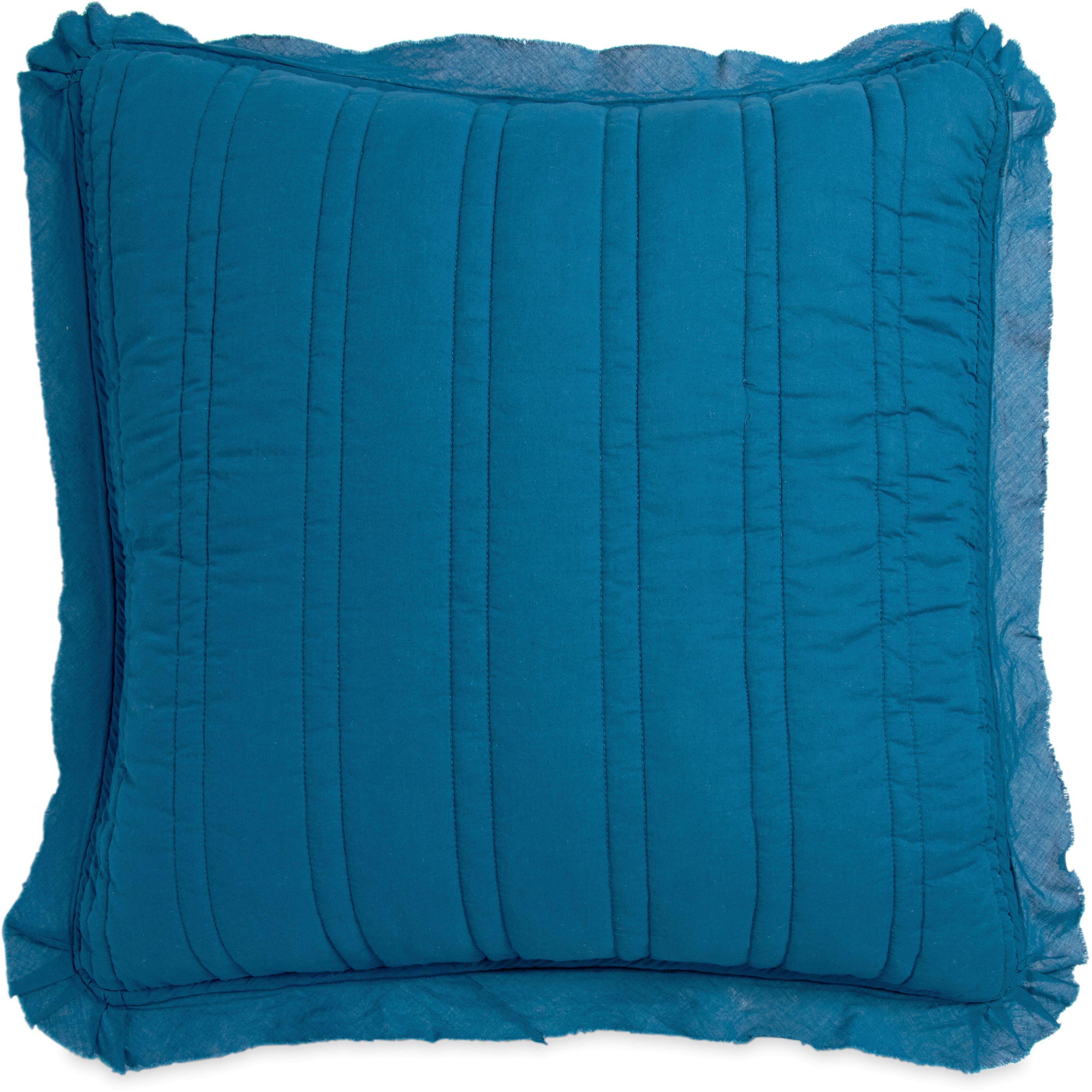 The pioneer woman double stitch sham set, euro blue