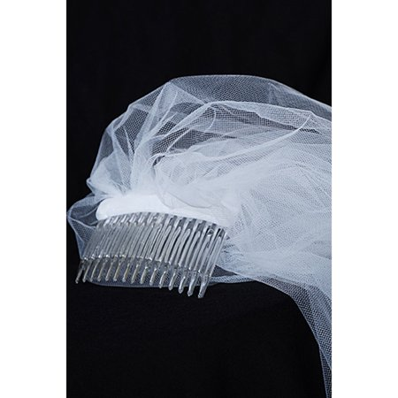 Communion Comb (Kids Dream Girls White Comb Attached Stylish Communion Flower Girl Veil )