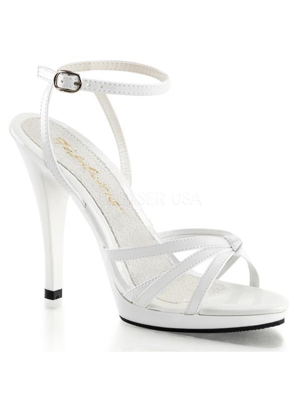 "FLA436/W/M Fabulicious Shoes 4 1/2"" Flair WHITE Size: 16"