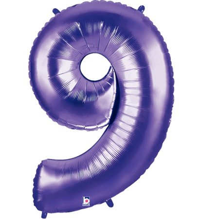 - Giant Purple Number 9 Foil Balloon 40