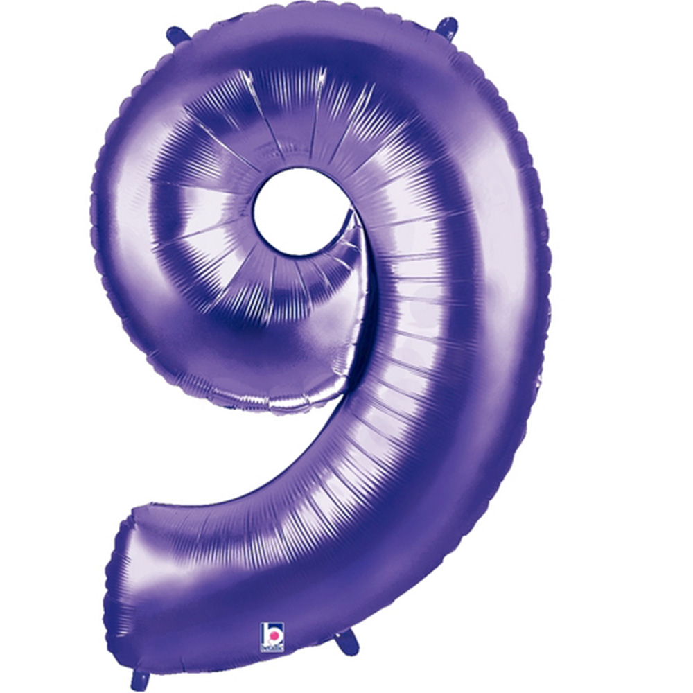 Giant Purple Number 9 Foil Balloon 40""