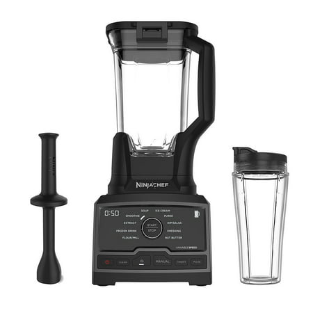 Ninja Chef 1500 Watt High Speed Blender Mixer Processor Duo w/ Single Serve