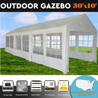 30'x10' PE White Tent - Wedding Party Tent Canopy Carport - By DELTA Canopies