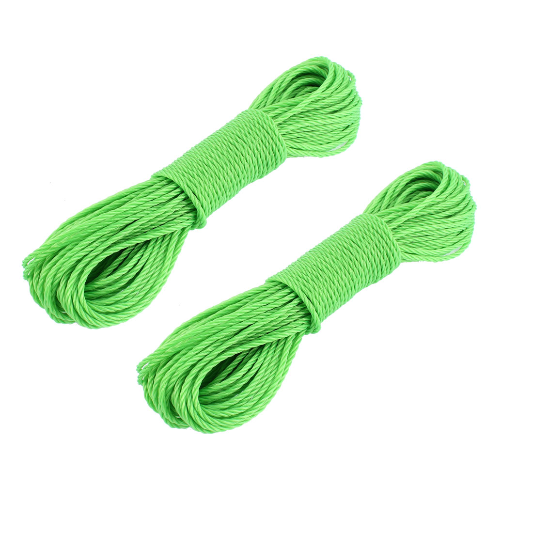 Unique Bargains Outdoor Travel Business Laundry Washing Clothes Line Rope Clothesline Green 2pcs