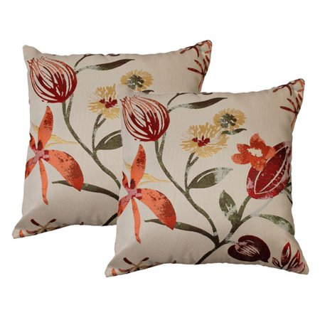 Decorative Pillows From Marshalls : Marshall Home Garden Filigree Floral Throw Pillow (Set of 2) - Walmart.com