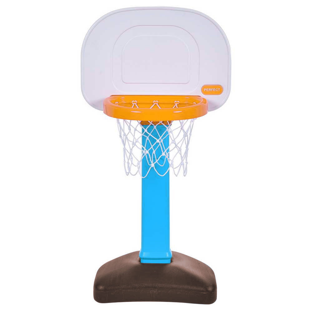 Gymax Basketball Set Basketball Hoop Toy Height Adjustable Backboard With Base Blue by Gymax
