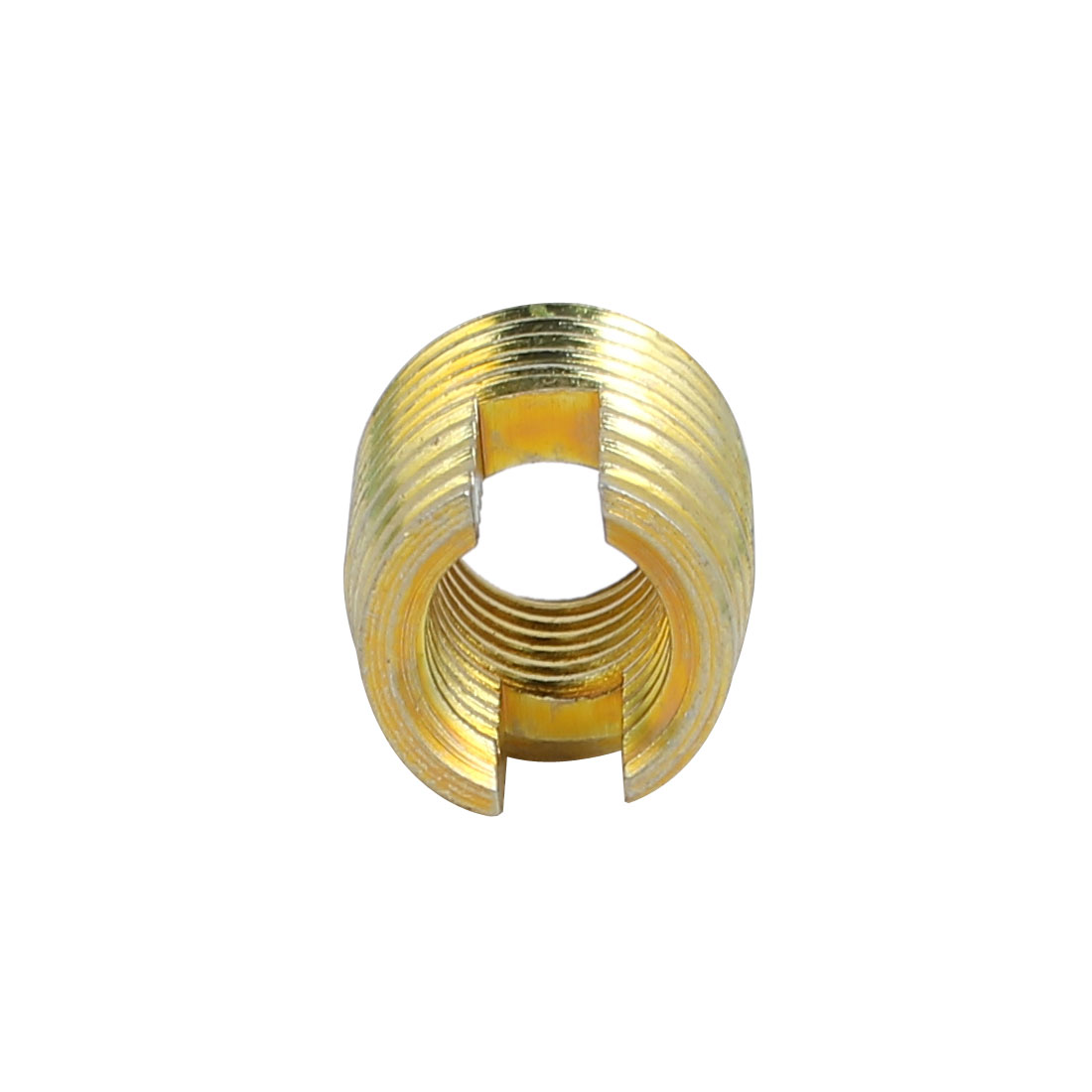 Unique Bargains M8x15mm Carbon Steel Zinc Plated Self Tapping Slotted Thread Insert 10pcs - image 1 of 3