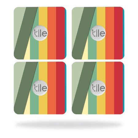 Skin Decal Wrap for Tile Slim Key Finder (4 pack) Stripes