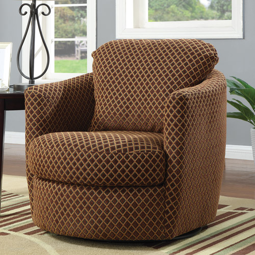 Coaster Diamond Pattern Swivel Chair