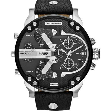 Men's Mr Daddy 2.0 Stainless Steel Watch Diesel Mens Leather Watch