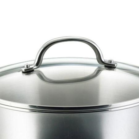 Farberware Millennium Stainless Steel Cookware Set, 10-Piece, Silver