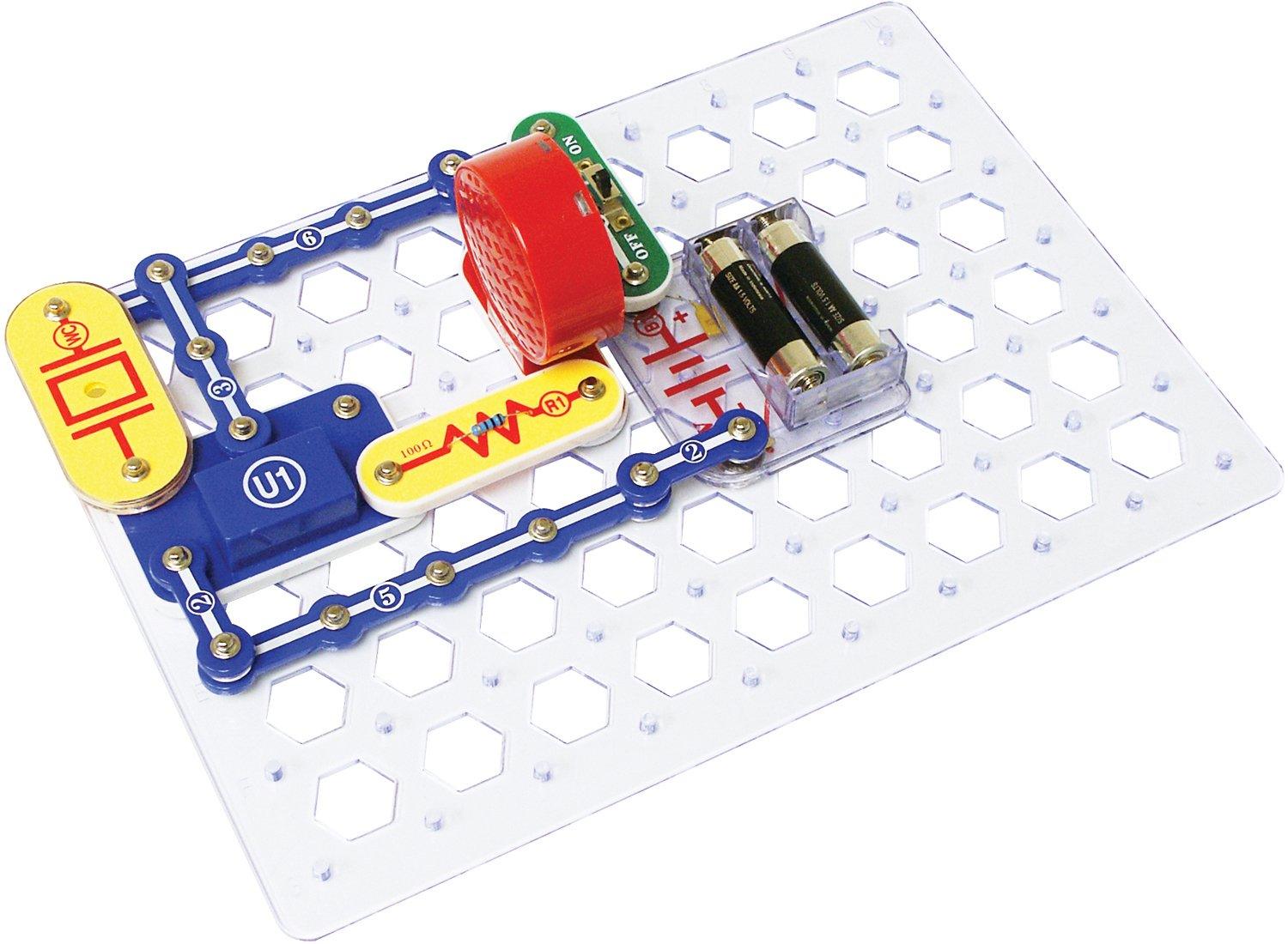 Snap Circuits Jr Sc 100 Electronics Discovery Kit Lights Electric Circuit Science By Elenco