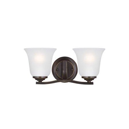 Seagull - 4439002EN3-782 - Two Light Bath Fixture - Emmons - Heirloom Bronze-1pack