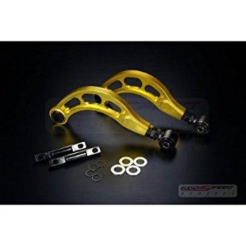 Godspeed Adjustable Rear Camber Kit w/ Control Arms Gen2 - 2006 2007 2008 2009 2010 2011 8th Honda Civic Dx/lx/ex/si All Fa1 / Fa5 / Fg1 / Fg2 / Fd2 / Fd5 (gold) ()