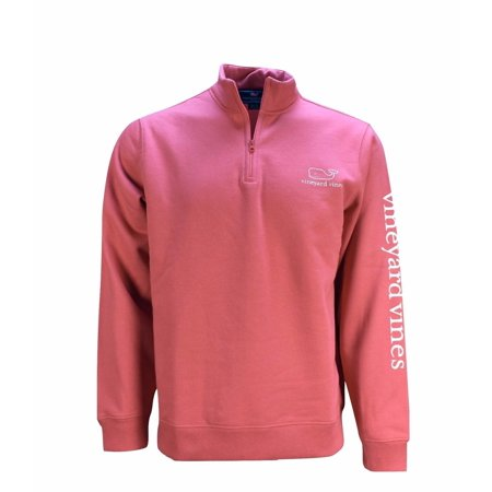 Vineyard Vines Men's Jetty Red Graphic 1/4 Zip Vintage Whale Pullover $125[XL]