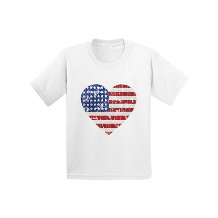 Awkward Styles American Flag Heart Toddler Shirt USA Heart Shirts for Kids America Tshirt for Girls 4th of July Shirt for Boys Kids Patriotic Tshirt Cute Independence Day Gifts for Kids USA Gifts (Cute Boys Website)