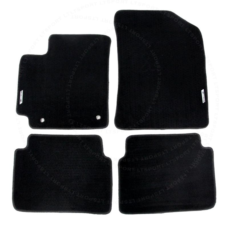 PEUGEOT 206 1998-2010 PURPLE TRIM TAILORED CAR FLOOR MATS CARPET BLACK MAT