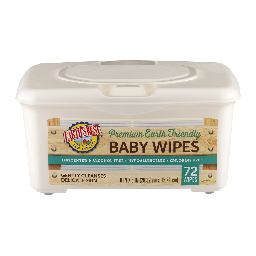Earth Best TenderCare Baby Wipes - 72 CT